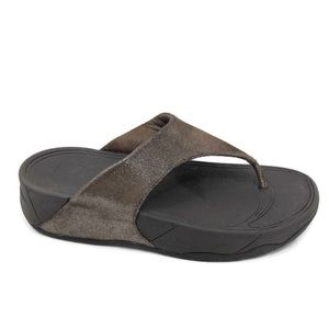 Fitflop Lulu brown shimmer sandals 505-012 size 7